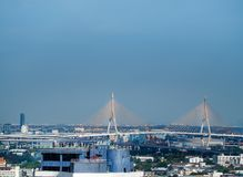 Aerial view of bhumibol bridge Royalty Free Stock Photo