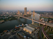 Aerial view of Bhumipol Bridge Stock Photography