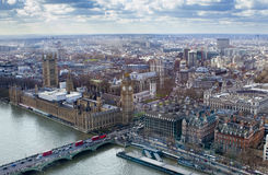 Aerial view of Big Ben. And London city Royalty Free Stock Photography