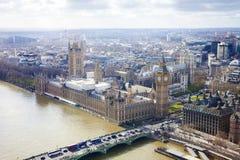 Aerial view of Big Ben Stock Photos
