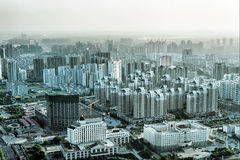 Aerial view of the big city Stock Image