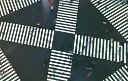 Aerial view of a big intersection in Tokyo Stock Image