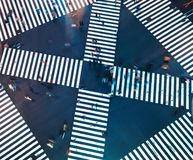 Aerial view of a big intersection in Tokyo Stock Photography