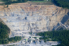 Aerial View : Big stone quarry Stock Images