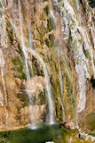 Aerial view on big waterfall - Plitivice lakes. Stock Image