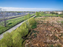 Aerial view of bike trail Royalty Free Stock Photo