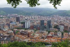 Bilbao city skyline. royalty free stock image