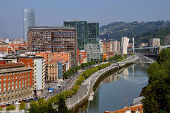 Aerial view of Bilbao, Spain Royalty Free Stock Photography