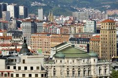 Aerial view of Bilbao, Spain Royalty Free Stock Images