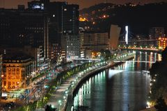 Aerial view of Bilbao Stock Photography