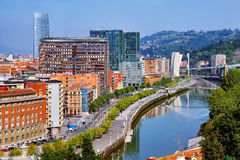 Aerial view of Bilbao Royalty Free Stock Image