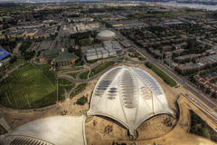 An aerial view of the Biodome in Montreal, Canada Royalty Free Stock Photography