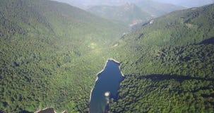 Aerial view of Biogradsko Lake, Biogradska Gora national park in Montenegro. Aerial view of Biogradsko Lake, Biogradska Gora national park, Montenegro stock video footage