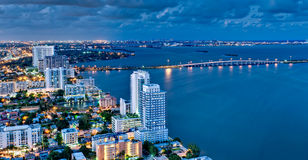 Aerial View of Biscayne Bay at Royalty Free Stock Image