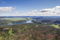 Aerial view of the black hills, Pactola Lake Royalty Free Stock Photos