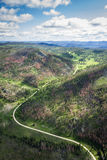 Aerial view of the black hills Stock Photography