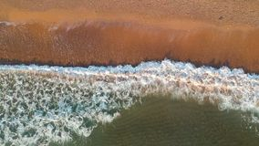 Aerial view of the Black Sea. Aerial view of beautiful Black Sea and sandy beach stock video