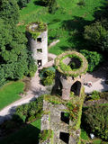 Aerial View of Blarney Towers. Aerial view of two of Blarney Castles towers and the lush green surroundings Royalty Free Stock Photography