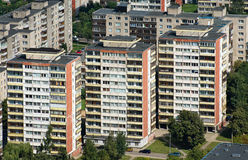 Aerial view blocks of flats Stock Photo