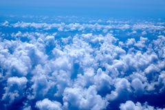 Aerial view of blue clouds on blue sea Royalty Free Stock Image