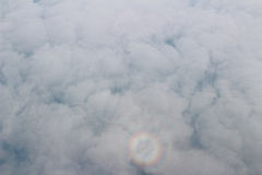 Aerial view of Blue sky and Cloud Top view from airplane window Royalty Free Stock Photography