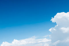Aerial view of Blue sky and Cloud Top view from airplane window, Stock Image