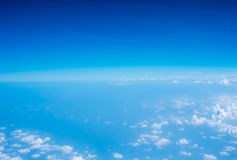 Aerial view of Blue sky and Cloud Top view from airplane window, Royalty Free Stock Image