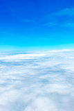 Aerial view of Blue sky and Cloud Top view from airplane window, Royalty Free Stock Photos
