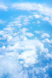 Aerial view of Blue sky and Cloud Top view from airplane window, Stock Photography