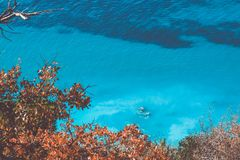 Aerial view of blue waters Royalty Free Stock Images
