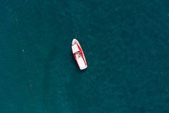 Aerial view of a boat Stock Photos