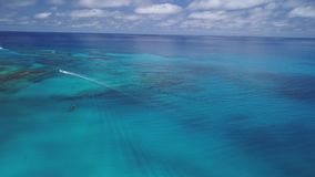 Aerial view of a boat in navigation. Fuerteventura stock footage