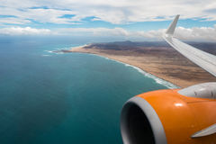 Aerial view of Boavista coast Cape Verde - Cabo Verde Royalty Free Stock Photos