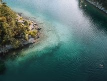 Aerial View of Body of Water stock photo