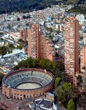 AERIAL VIEW OF BOGOTA royalty free stock photos