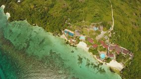 Aerial view of Bohol coast Island. Aerial. Fisheye view. Philippines. Aerial view of Bohol coast Island. Aerial. Fisheye view. Philippines stock video footage