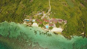 Aerial view of Bohol coast Island. Aerial. Fisheye view. Philippines. Aerial view of Bohol coast Island. Aerial. Fisheye view. Philippines stock footage