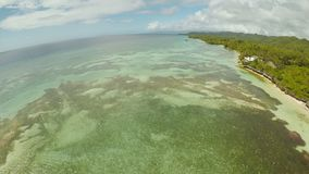 Aerial view of Bohol coast Island with boats. Aerial. Fisheye view. Philippines. Aerial view of Bohol coast Island. Aerial. Fisheye view. Philippines stock video footage