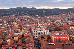 Aerial View of Bologna from Asinelli Tower, Bologna, Emilia-Roma Royalty Free Stock Image