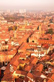 Aerial View of Bologna City Stock Photography