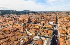 Aerial view of Bologna (hdr) Royalty Free Stock Photography