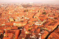 Aerial View of Bologna from the Tower Royalty Free Stock Photos