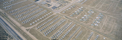 Aerial view of bone yard, stock photo