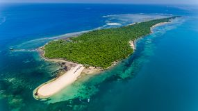 Aerial view of the bongoyo island, Dar es salaam. Tanzania royalty free stock photo