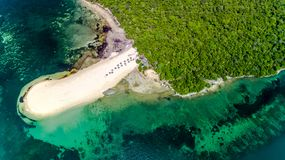 Aerial view of the bongoyo island, Dar es salaam. Tanzania stock image