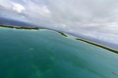 Aerial view on Bora Bora Royalty Free Stock Images