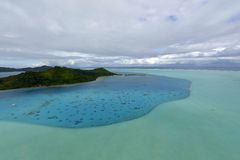 Aerial view on Bora Bora Royalty Free Stock Image