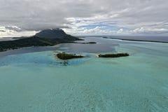 Aerial view on Bora Bora Stock Images