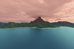 Aerial view on Bora Bora Stock Photos