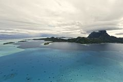 Aerial view on Bora Bora Royalty Free Stock Photography